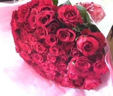プロ―ポーズの花束。